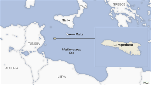 Lampedusa-map